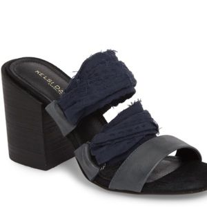 Kelsi Dagger black/navy sandal